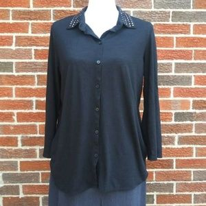 Absolutely Famous - 3/4 Sleeve Blouse Size Large